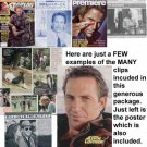 Kevin Costner clippings, set #7 - includes more than 180 pages + poster