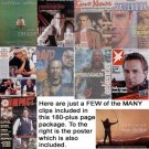 Kevin Costner clippings, set #21 - includes more than 180 pages + poster