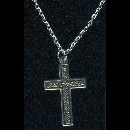 Silver-tone cross pendant