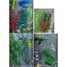 Set of 16 plastic plants with anchors for aquarium (fish tank)