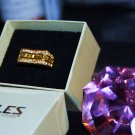 10kt Gold Womens Gemstone Cocktail Ring