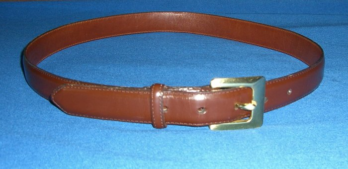 Authentic Womens Coach Brown Belt with Brass Buckle