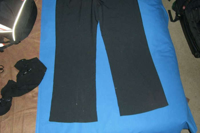 Black Womens Slacks No Pockets 3XL