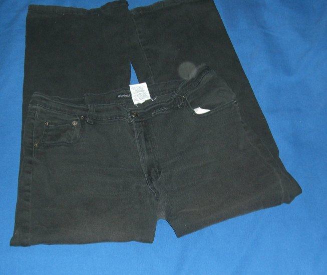 Jordache Womens Black Stretchy Jeans