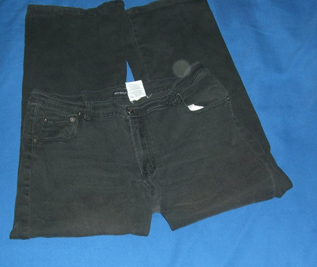 Jordache Black Stretchy Jeans Pre-washed & Owned
