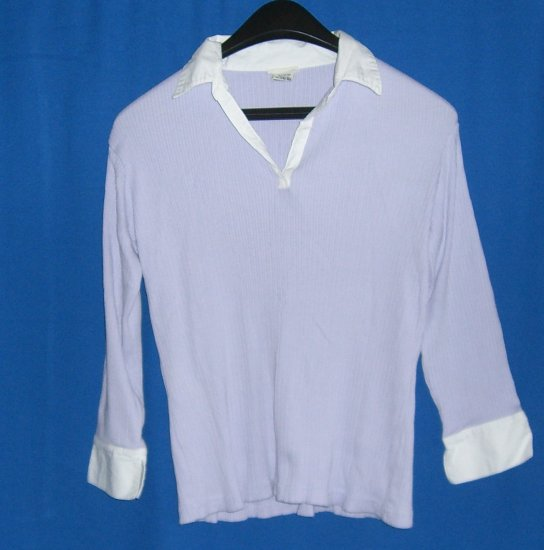 Cherokee Lavender Knitted Collar Top Misses