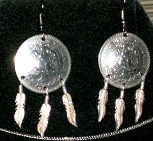 Collectors Lot 1919 Mexican 50 Centavos Custom Earrings 0.72% Silver