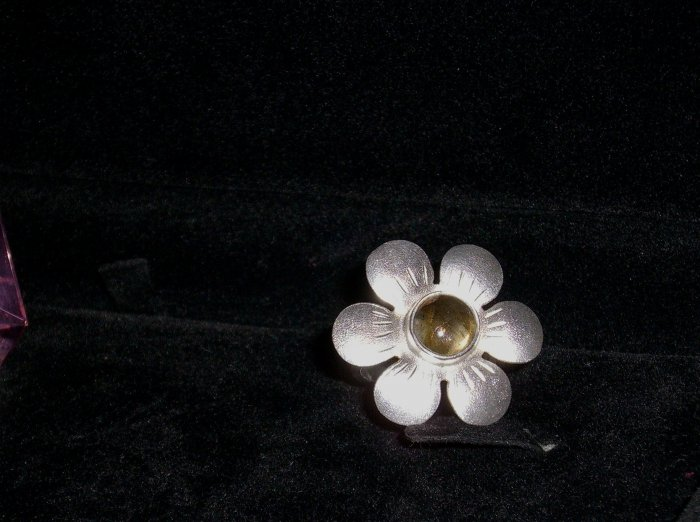 Womens .925 Sterling silver flower ring Pre-owned
