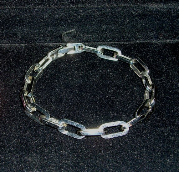 Mens Silver Tone Stainless Steel Polished Bracelet