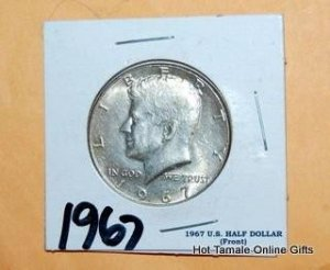 1967 KENNEDY HALF DOLLAR. BRILLIANT UNCIRCULATED.