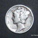 1939-D Mercury Silver Dime XF