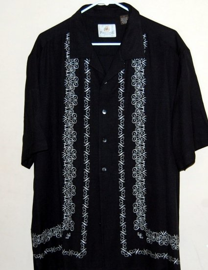 Mens Paradise Short Sleeve Silk Shirt NWOT