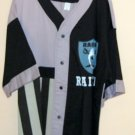 Custom Made Silk Screen Mens Raider Button Up Base ball style shirt