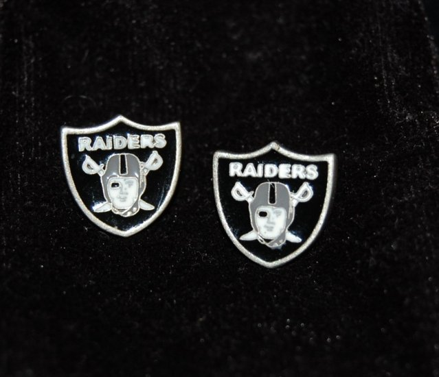 Oakland Raiders Earring Set
