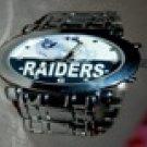 NFL Oakland Raiders Mens Silver Tone Watch
