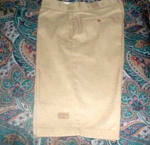 Mens Disckies shorts Tan New No Tags