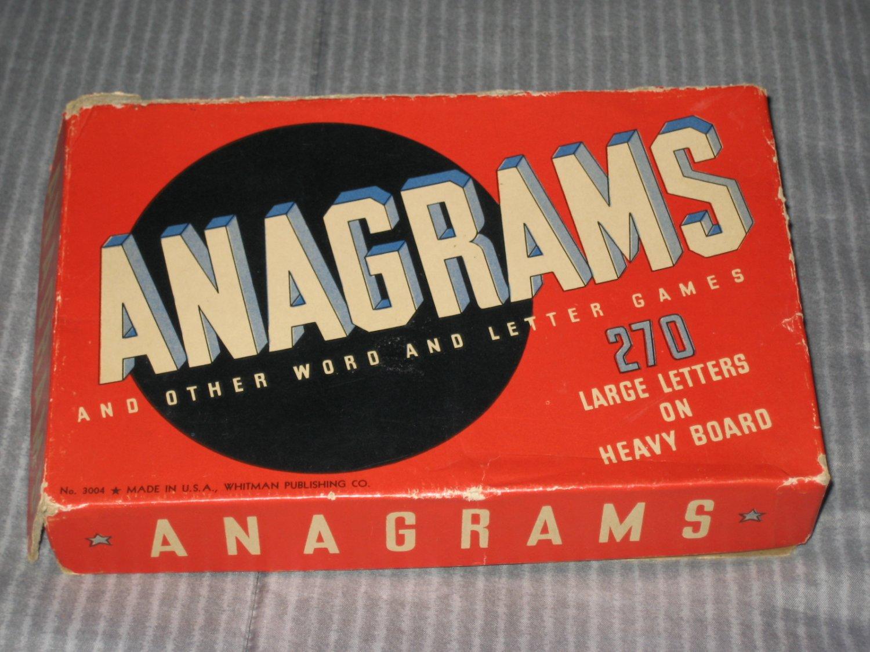 Vintage 1934 Word Game Anagrams