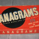 Vintage 1934 Word Game Anagrams