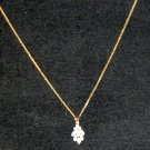 Gold Tone Chain & Opal Pendant Estate Lot #223