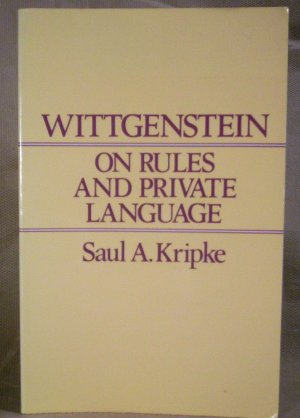 Wittgenstein on Rules and Private Lanuage, Saul A. Kripke