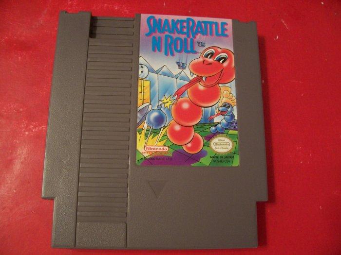 SNAKE RATTLE N ROLL *TESTED* NINTENDO 8 BIT NES