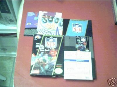 NFL Football (Nintendo) COMPLETE IN BOX WITH BOOK NES