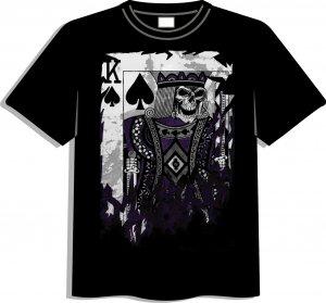 New K-Boy (a.k.a. King) Card poker t-shirt