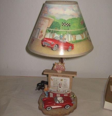 Retro Design Be-Bop Drive In Diner Lamp & Shade