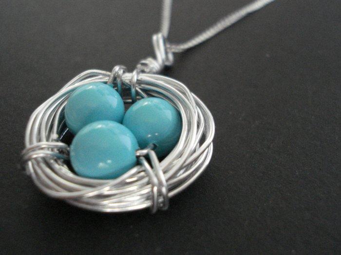 Robin's Nest Sterling Silver Necklace
