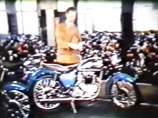 BSA Motorcycle Factory Tour Movie 1958.