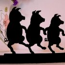 World Renown Talented Dancing Pigs Wood Silhouette.