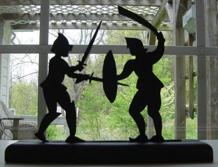 Hack and Whack of the Middle Ages Decorative Silhouette