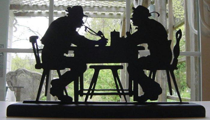 Drinking Buddies Hand-cut Decorative Wood Silhouette