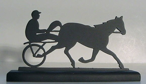 Harness Racer Hand-cut Wood Decorative Silhouette Gift