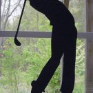 Male Golfer at end of Swing Decorative Silhouette.