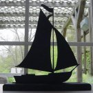A Pleasure Sailing Boat Hand-cut Wood Silhouette