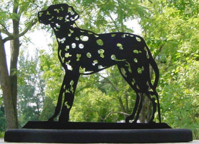 Dalmatian Dog Very Detailed Handmade Decorative Wood Silhouette.