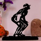 Baseball Player Waiting for the Fly Ball Decorative Wood Silhouette