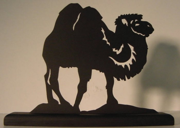 Camel Hand-cut Decorative Wood Silhouette Nice Gift!