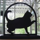 Playful Cat Wood Decorative Silhouette Great Gift Item