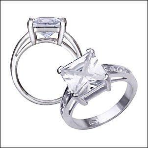 1.2 CT Platinum Rhodium Ring