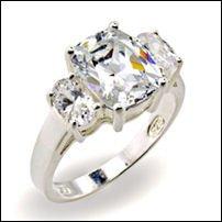 3.0 CT Platinum Rhodium Ring