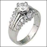 1.5 CT Platinum Rhodium Ring