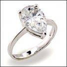 1.5 CT Platinum Rhodium Ring