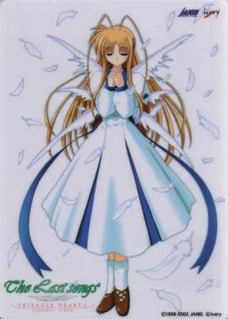 The Last Songs Triangle Hearts Promo Shitajiki Game Anime Pencil Board