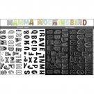 "Sassafras Lass Clear ""Nesting"" Stamps - Mamma Mockingbird"