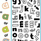 gel-a-tins clear stamps - Build-A-Set Lowercase Letters