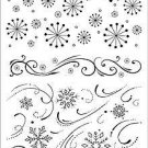 Hero Arts Clear Design- Snowflake Backgrounds