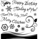 Paper Inspirations Clear Stamps - Banner & Greetings