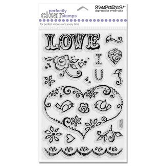 Stampendous Clear - Love Stitch